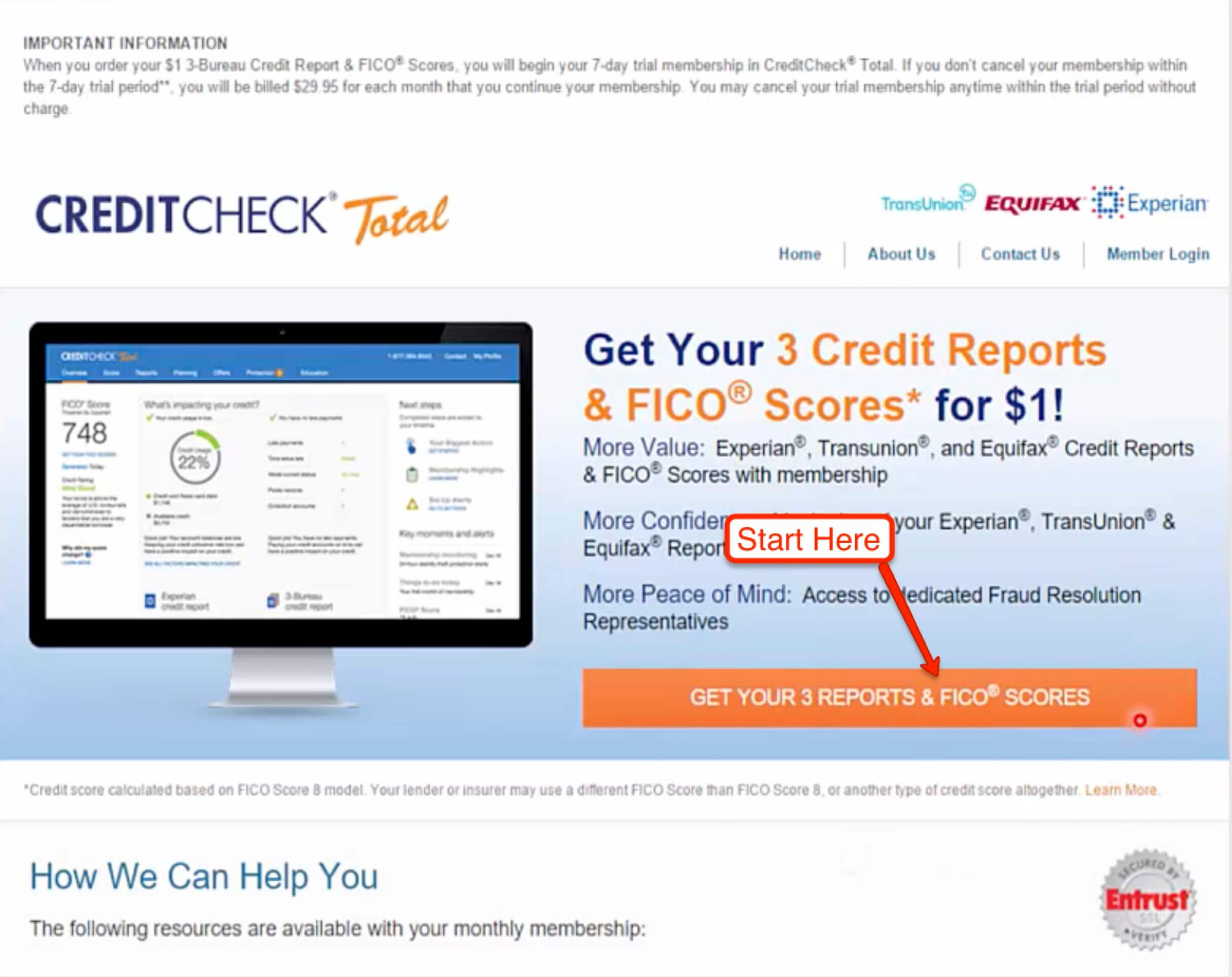 Credit Report Website